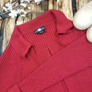 It's Our Time Women Cardigan Sweater Small Red